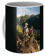 A Man And A Woman Looking At The View Coffee Mug