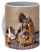 A Man And His Monkey - Varanasi India Coffee Mug