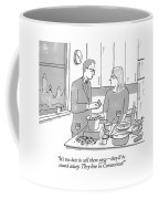 A Man And Wife Stand In The Kitchen Coffee Mug