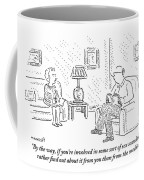 A Man And Woman Are Sitting Together In A Living Coffee Mug