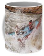 A Man And Woman Get Pushed Coffee Mug