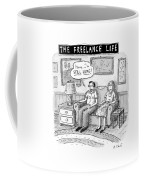 A Man And Woman Sit On A Couch In Their Living Coffee Mug by Roz Chast