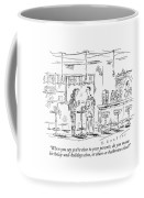 A Man And Woman Stand At A Table In A Bar Coffee Mug
