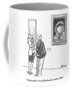 A Man And Woman Stand In A Museum Looking Coffee Mug