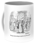 A Man And Woman Talk At The Bar Coffee Mug