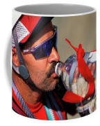A Man Drinking Water Coffee Mug