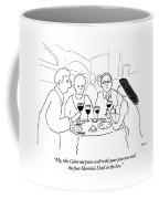 A Man Explains To His Wife In Front Coffee Mug