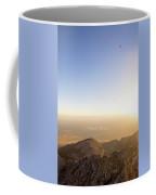 A Man Flying Kite On Summit Of Little Coffee Mug