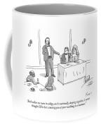 A Man Gives A Toast To The Bride And Groom Coffee Mug