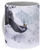 A Man Hangs In A Hammock Sleeping Bag Coffee Mug