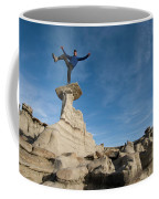 A Man Hiking And Exploring The Complex Coffee Mug