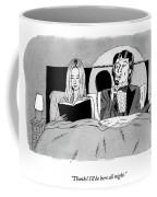 A Man In A Performer's Tuxedo Lies In Bed Next Coffee Mug