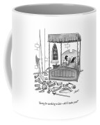 A Man, In Bed With His Wife, Speaks To Her Coffee Mug