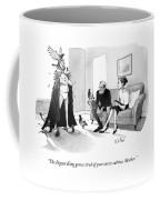 A Man In Underwear And A Cape Coffee Mug