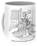 A Man Is Seen Speaking With His Psychiatrist Coffee Mug