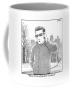 A Man Is Seen Talking On A Cell Phone Coffee Mug