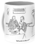 A Man Licks His Plate Clean At A Restaurant Coffee Mug