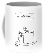 A Man Lies In Bed With A Ferret On Top Coffee Mug