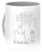 A Man Listens To The Radio Coffee Mug