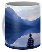 A Man Looks At The Mountains Coffee Mug