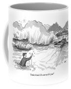 A Man Marooned In A Marsh Shouts Coffee Mug