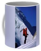 A Man Mountaineering In The Alps Coffee Mug
