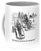 A Man On A Couch Speaks To His Therapist Coffee Mug