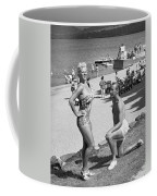A Man Proposes On The Beach Coffee Mug