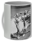A Man Proposes On The Beach Coffee Mug