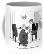 A Man Proposes To A Woman In A Restaurant Coffee Mug
