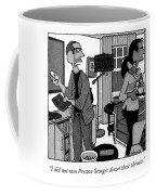 A Man Putting A Dvd In Its Cakse Speaks Coffee Mug