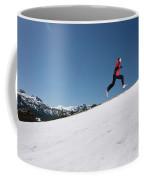 A Man Runs Alone On A Late Winter Day Coffee Mug