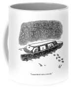 A Man Sits In The Backseat Of A Driverless Coffee Mug