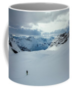 A Man Ski Touring Near Icefall Lodge Coffee Mug