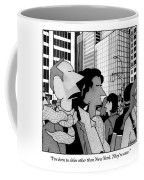 A Man Speaks To His Wife In The Midst Of New York Coffee Mug