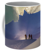A Man Stands At The Entrance Of An Ice Coffee Mug