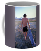 A Man Takes Off His Clothes And Walks Coffee Mug