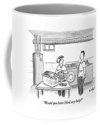 A Man Talks To A Woman Who's Just Done Laundry Coffee Mug by Robert Leighton