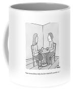 A Man Talks To His Wife Over Tea Coffee Mug