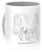 A Man To Priest As He Drinks The Wine Coffee Mug by Paul Noth