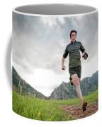 A Man Trail Runs Along The Spring Brook Coffee Mug