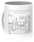 A Man Walks Into A Bathroom Where His Wife Coffee Mug