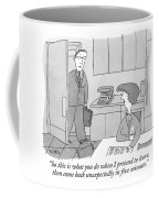A Man Walks Into His Kitchen Coffee Mug