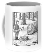 A Man Who Has Just Cut Down A Tree Sees That Coffee Mug