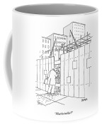 A Man With A Briefcase Looks Downwards Coffee Mug