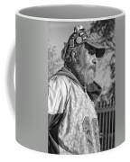 A Man With A Purpose Monochrome Coffee Mug