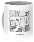 A Man With A Ridiculous Mustache Speaks Coffee Mug