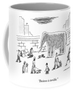 A Man With An Elephant Speaks On The Phone Coffee Mug