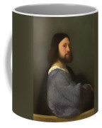 A Man With Quilted Sleeve Coffee Mug