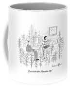 A Man, Woman, And Dog Sit In A Living Room That Coffee Mug